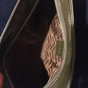 Via Spiga Bags - Via Spiga Olive Green Patent Leather Clutch